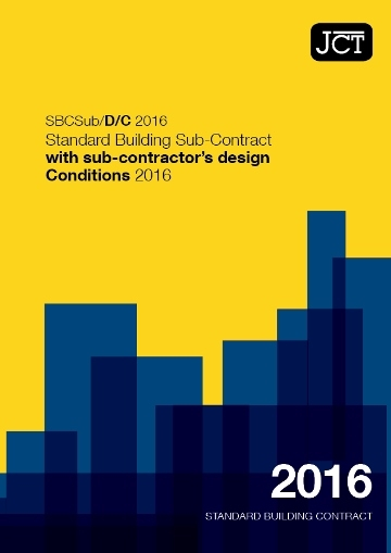 Standard Building Sub-Contract with sub-contractor's design Conditions (SBCSub/D/C)