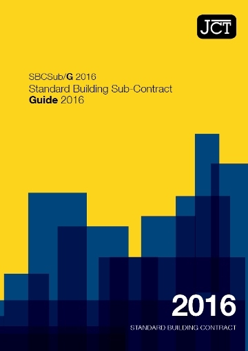 Standard Building Sub-Contract Guide (SBCSub/G)