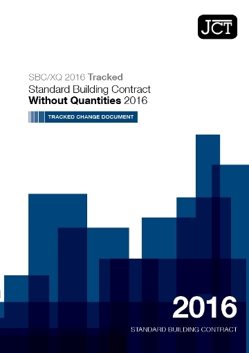 Standard Building Contract Without Quantities (SBC/XQ) Tracked Change Document
