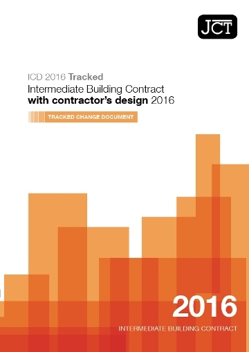Intermediate Building Contract with contractor's design (ICD) Tracked Change Document