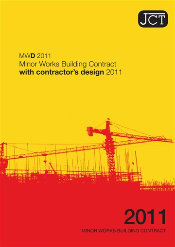 Minor Works Building Contract with contractor's design (MWD)