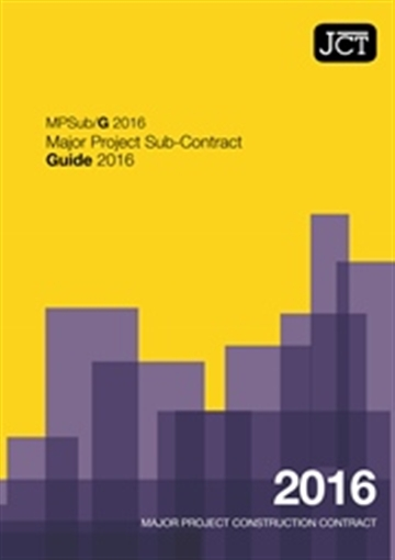 Major Project Sub-Contract Guide (MPSub/G)