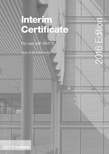 Interim Certificate for MW16
